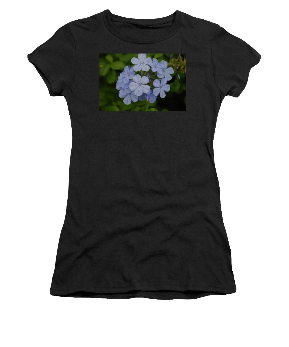 Macro Women's T-Shirt (Athletic Fit) featuring the photograph Powder Blue Flowers by Rob Hans