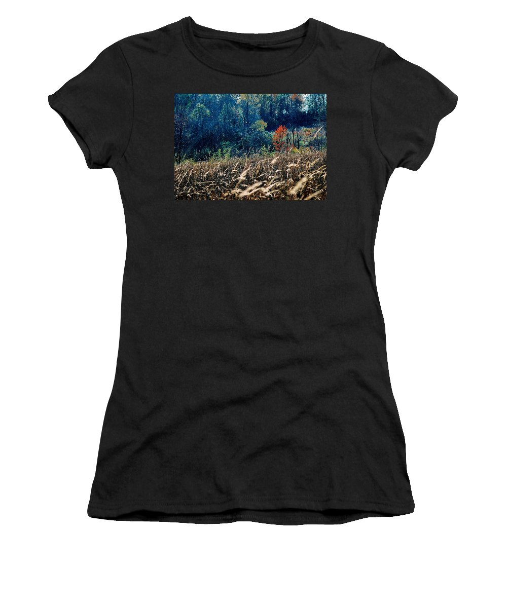 Landscape Women's T-Shirt (Athletic Fit) featuring the photograph Prairie Edge by Steve Karol