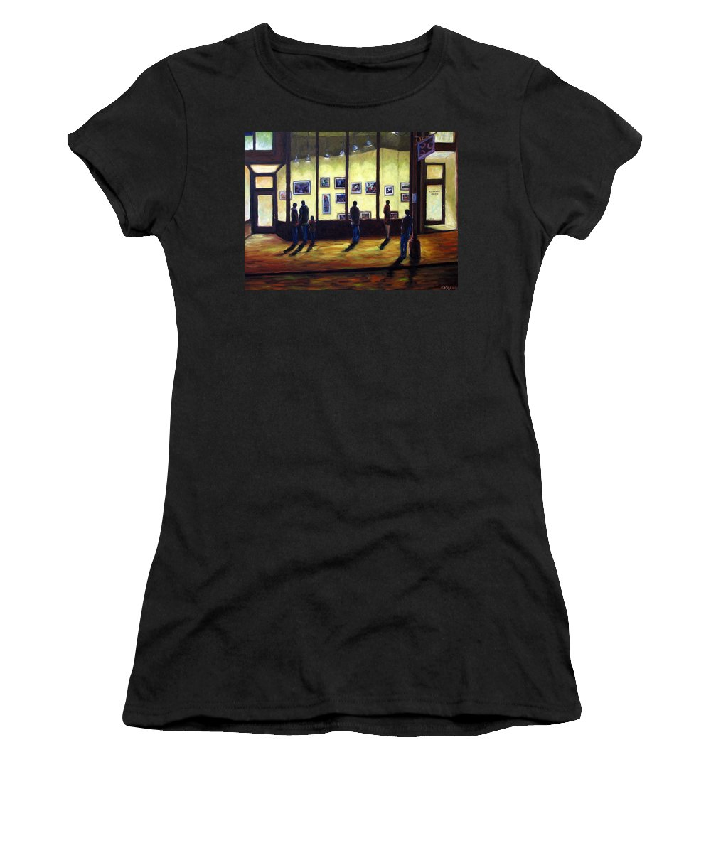 Urban Women's T-Shirt (Athletic Fit) featuring the painting Pranke by Richard T Pranke