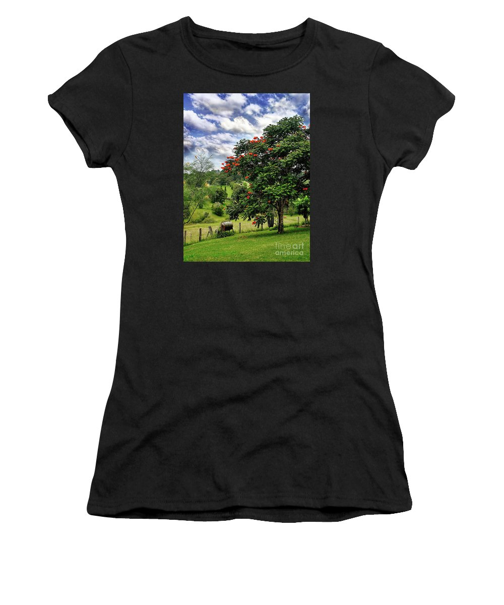 Photography Women's T-Shirt (Athletic Fit) featuring the photograph Pretty Countryside by Kaye Menner