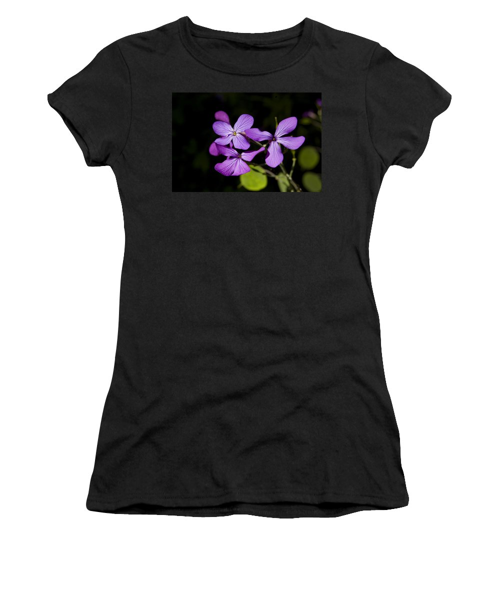 Flowers Women's T-Shirt featuring the photograph Pretty In Purple by Gary Adkins