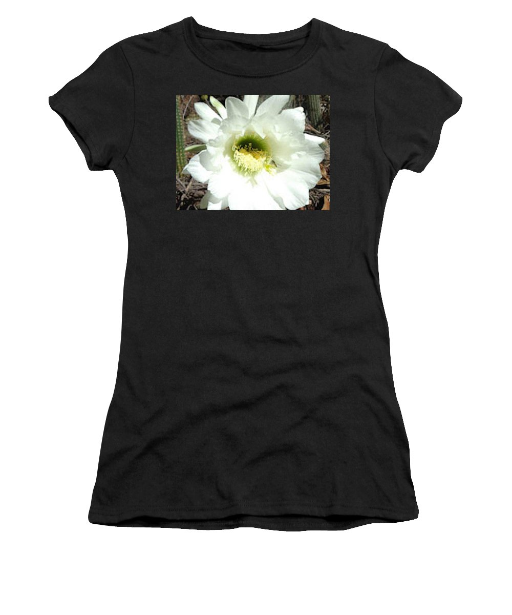Cactus Women's T-Shirt (Athletic Fit) featuring the photograph Prickly Extravaganza by Karen Szatkowski