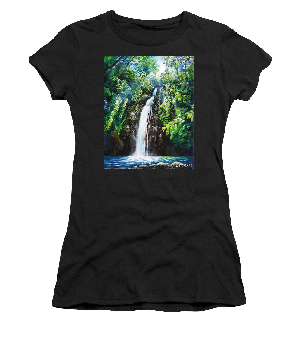 Chris Cox Women's T-Shirt (Athletic Fit) featuring the painting Pristine by Christopher Cox
