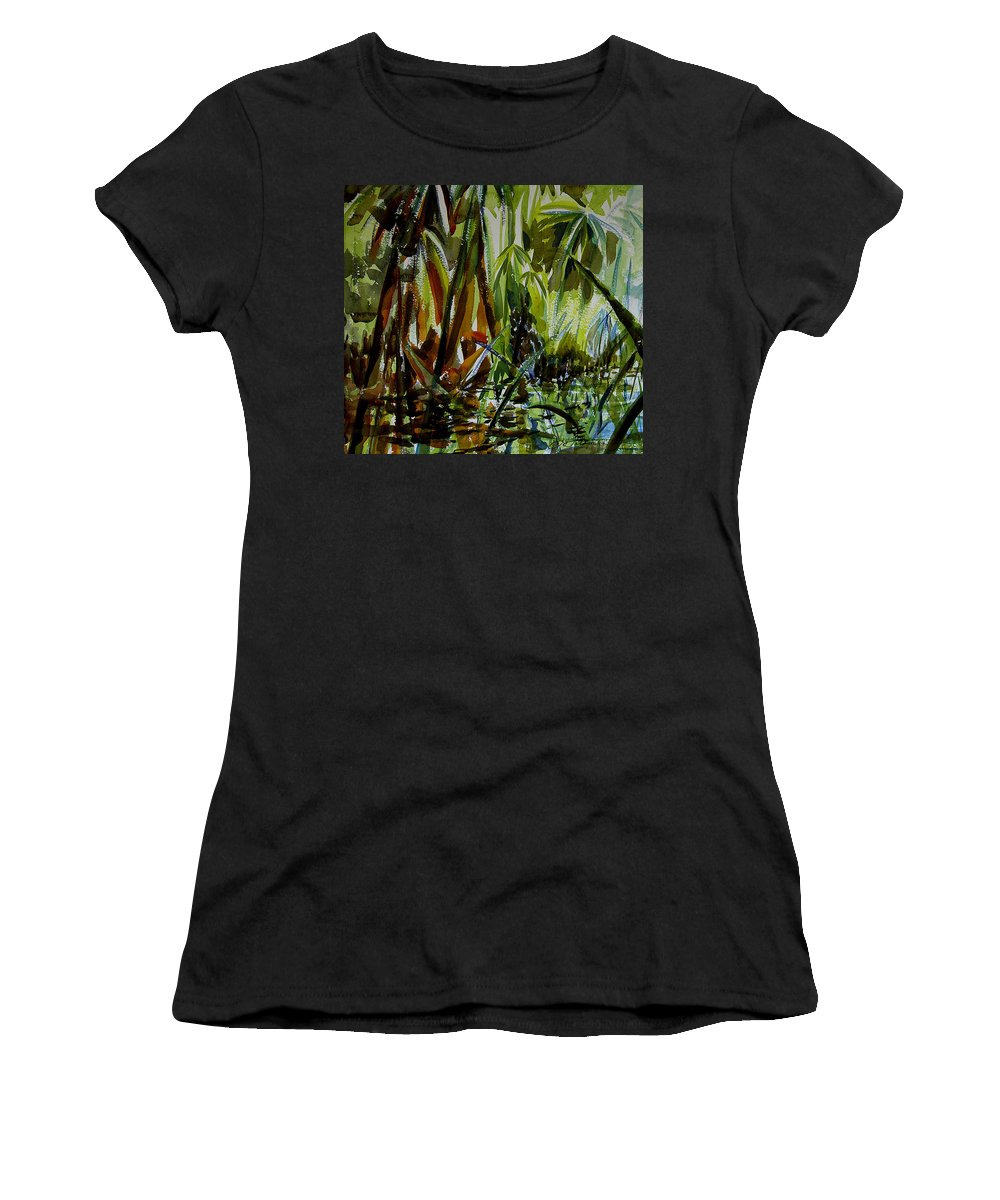 Framed Prints Women's T-Shirt featuring the painting Pristine Waters by Julianne Felton