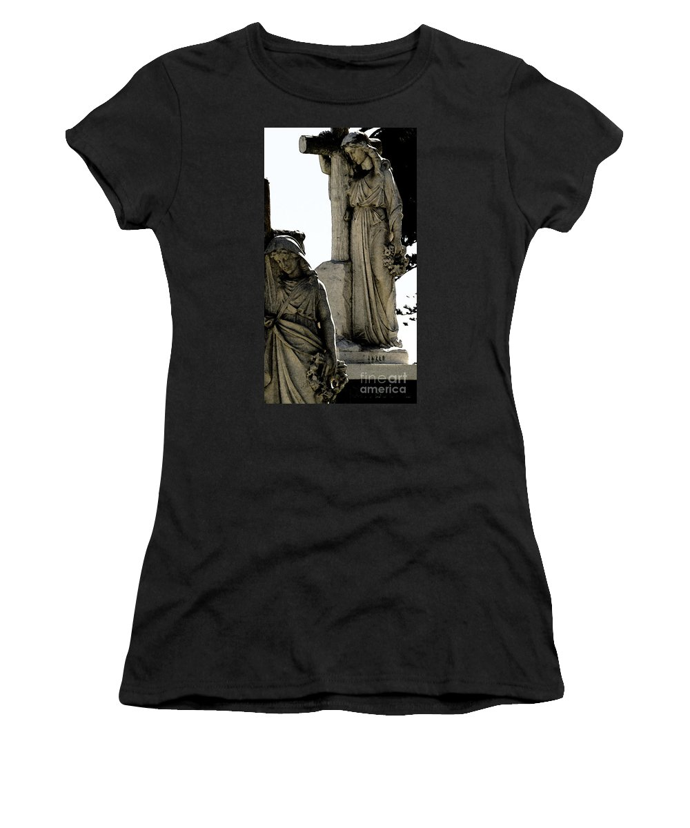 Cross Women's T-Shirt (Athletic Fit) featuring the photograph Procession Of Faith by Linda Shafer