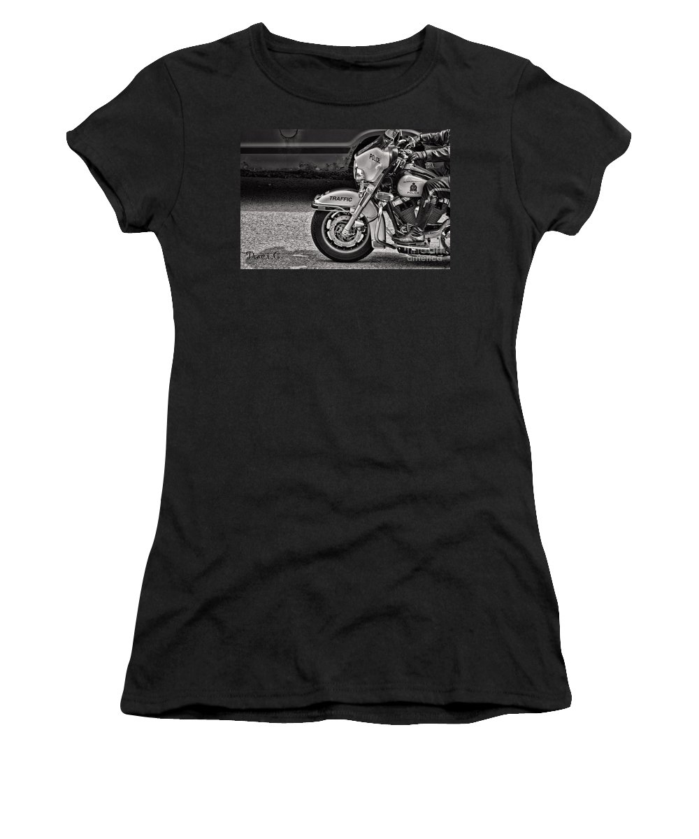 Police Women's T-Shirt featuring the photograph Protection by Traci Cottingham