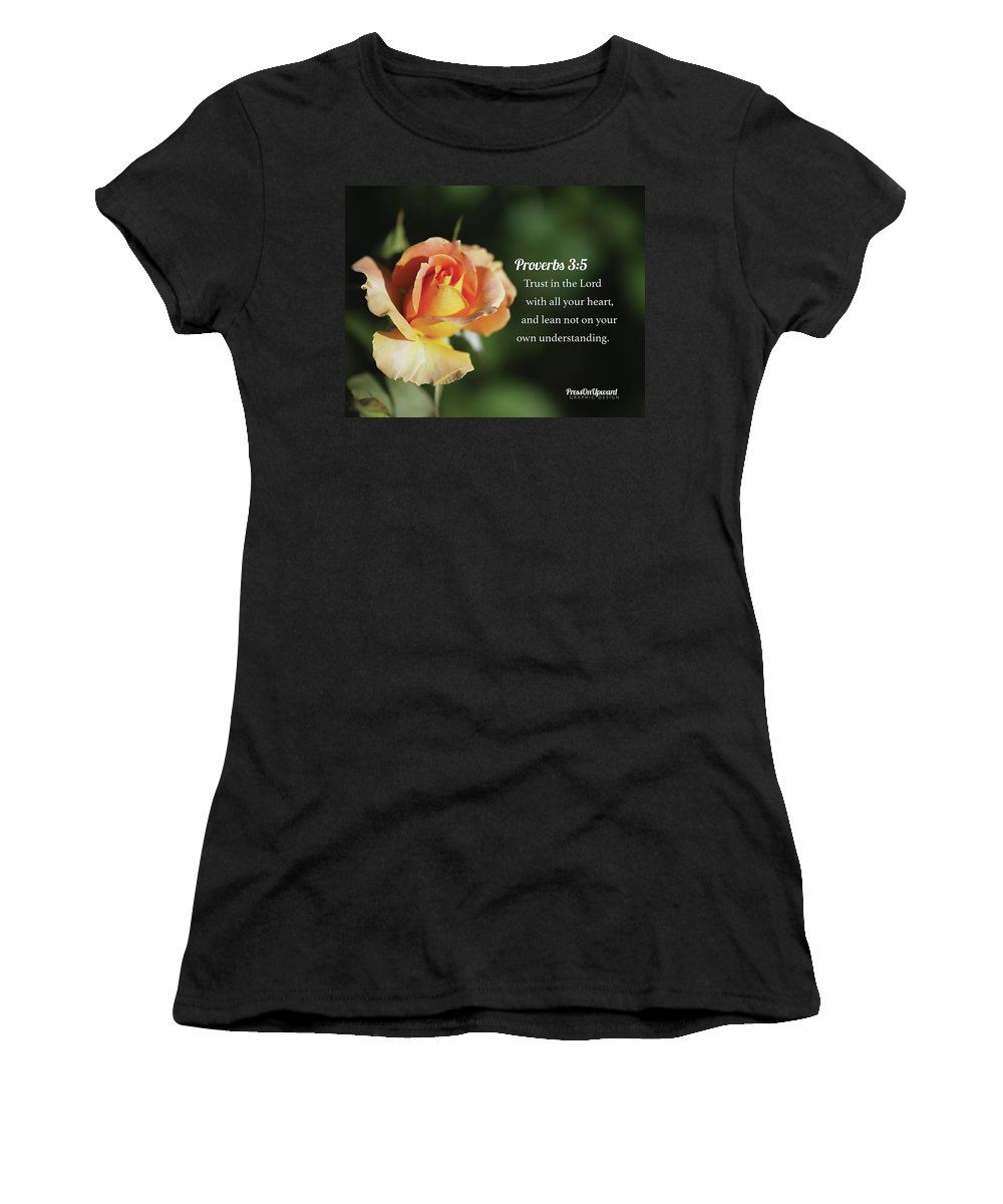 Psalm Women's T-Shirt (Athletic Fit) featuring the photograph Proverbs Three Five by Hansel Ong