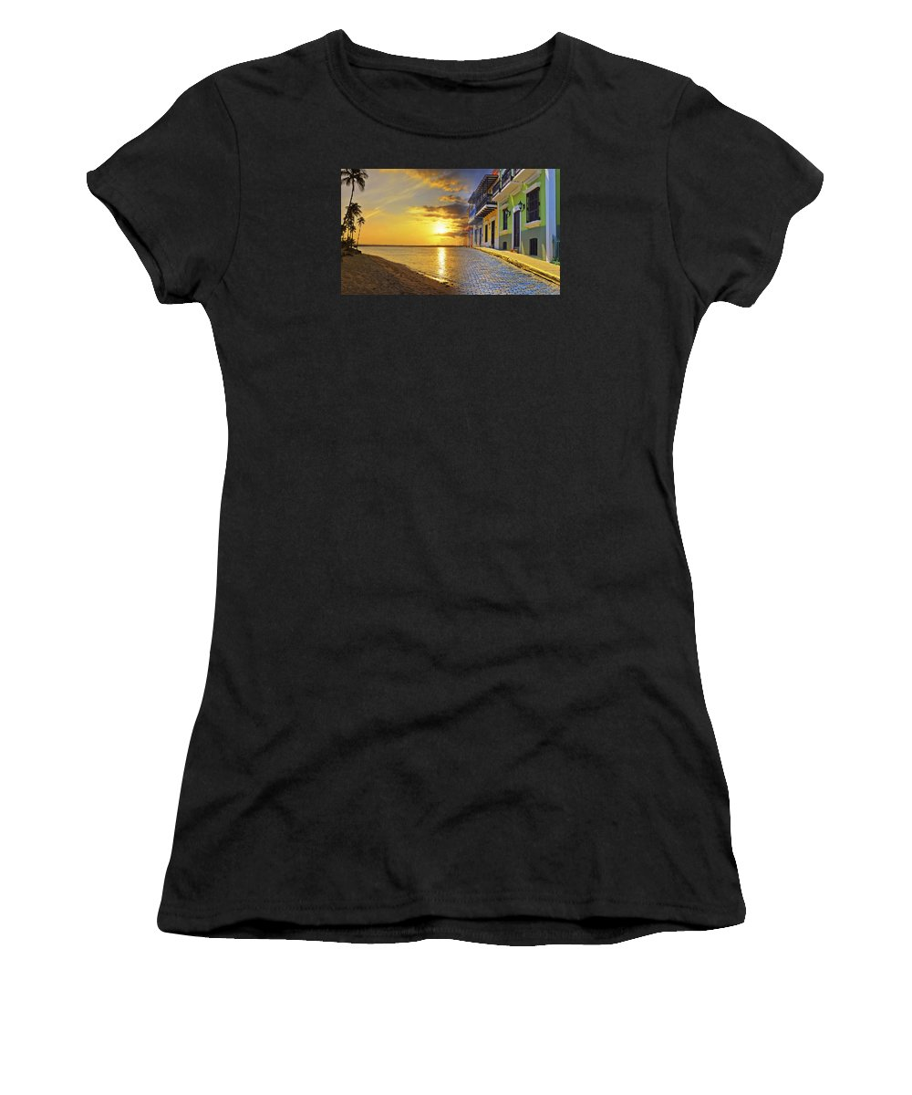 Puerto Rico Women's T-Shirt (Athletic Fit) featuring the photograph Puerto Rico Montage 1 by Stephen Anderson