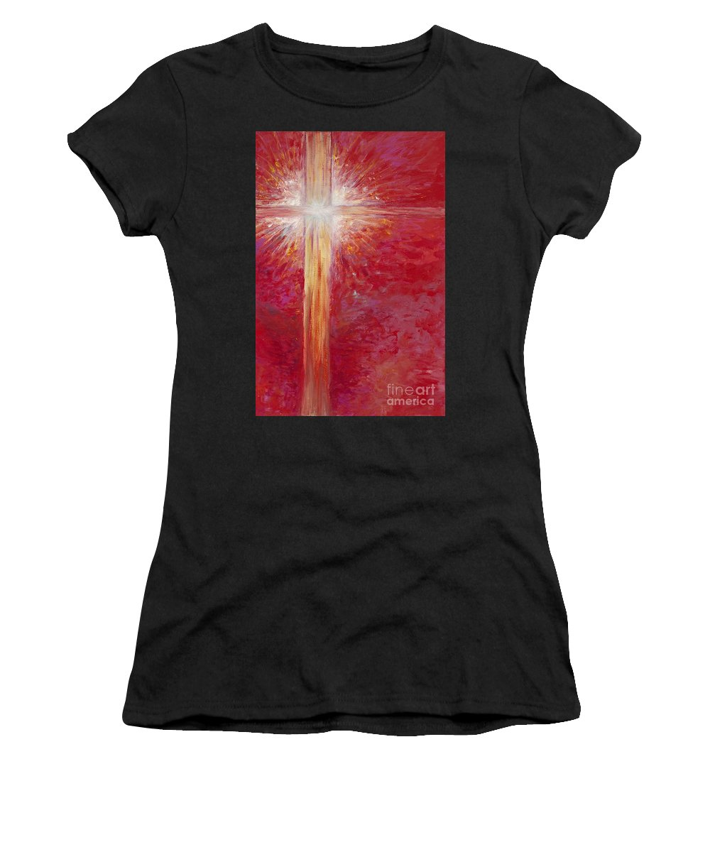 Light Women's T-Shirt featuring the painting Pure Light by Nadine Rippelmeyer