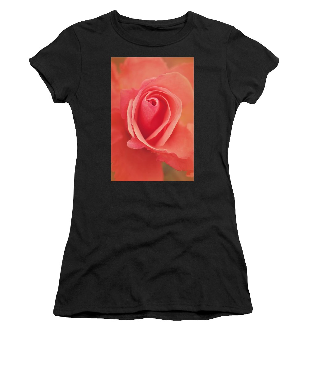 Women's T-Shirt (Athletic Fit) featuring the photograph Pure Passion Rose by The Art Of Marilyn Ridoutt-Greene