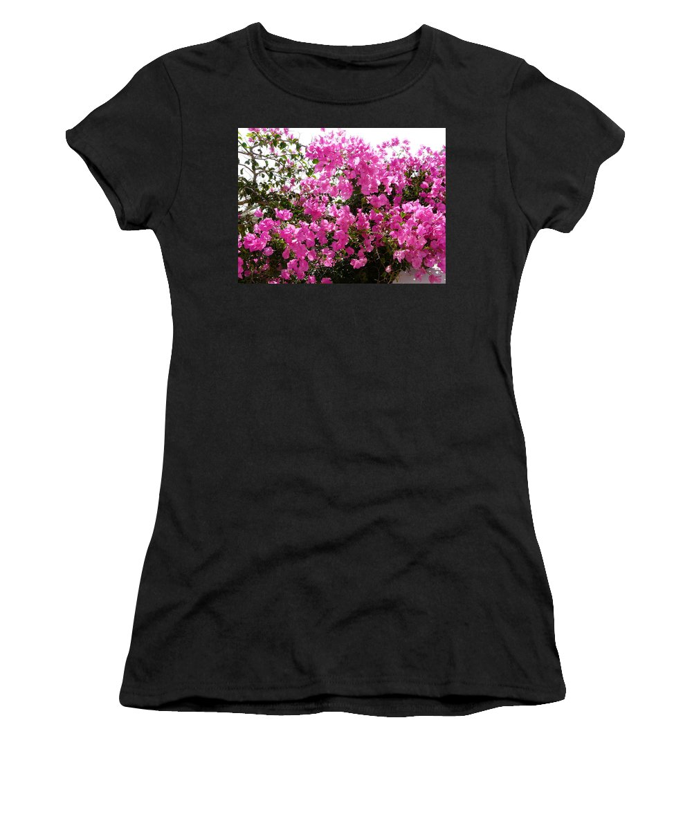 Flower Women's T-Shirt (Athletic Fit) featuring the photograph Purple Abundance by Valerie Ornstein