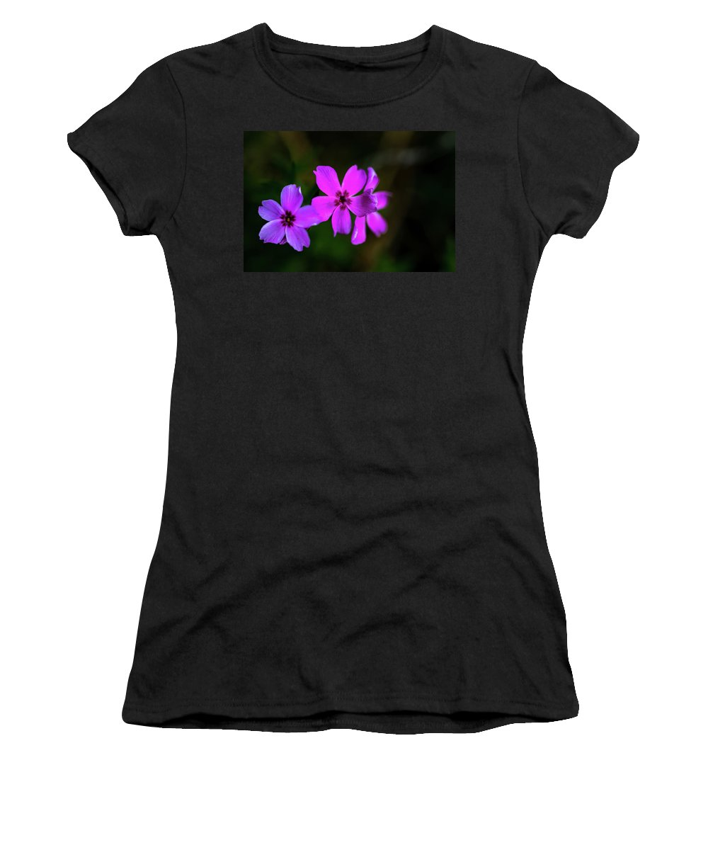 Jay Stockhaus Women's T-Shirt (Athletic Fit) featuring the photograph Purple by Jay Stockhaus