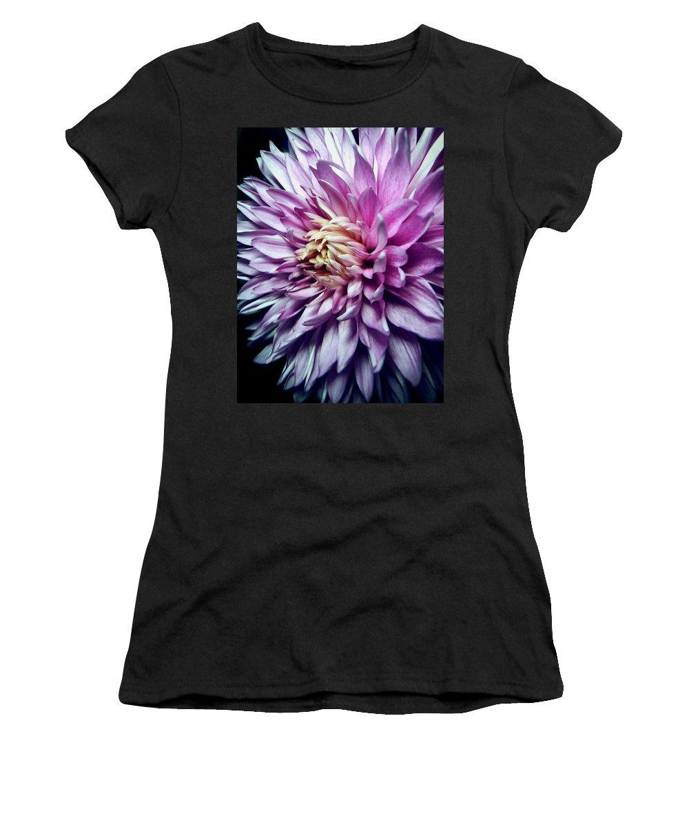 Flower Women's T-Shirt featuring the photograph Purple Mum by Steph Gabler
