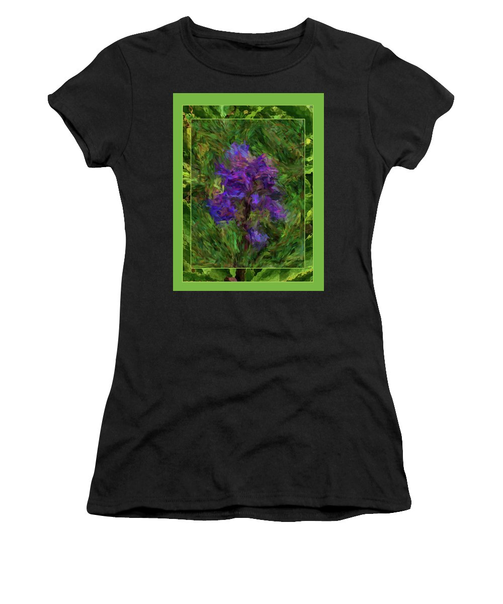 Abstract Women's T-Shirt (Athletic Fit) featuring the digital art Purple Png Flower by Shirley Dawson