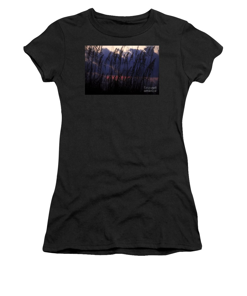Purple Women's T-Shirt (Athletic Fit) featuring the photograph Purple Rain by David Lee Thompson