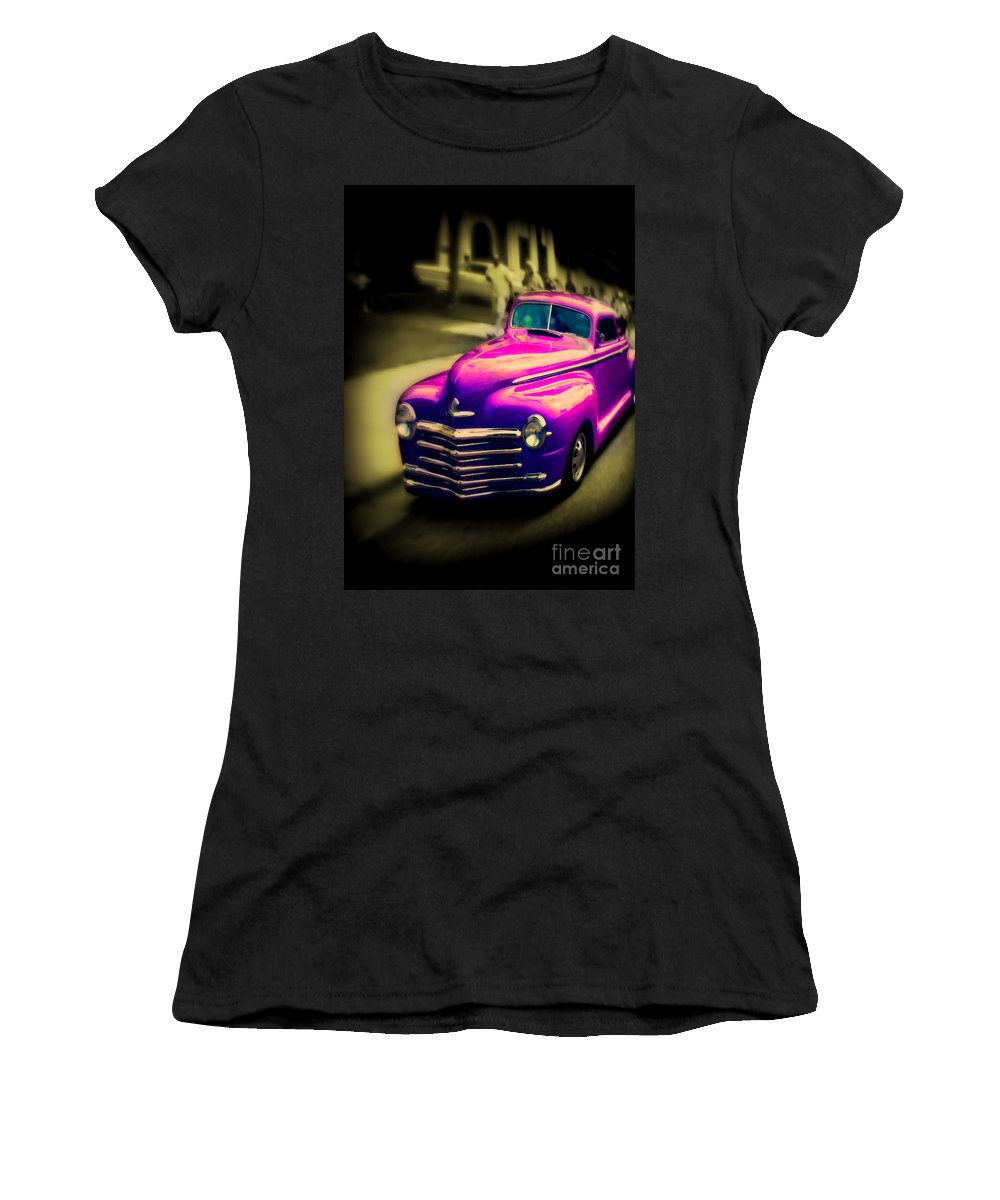 Car Women's T-Shirt featuring the photograph Purple Ride by Perry Webster