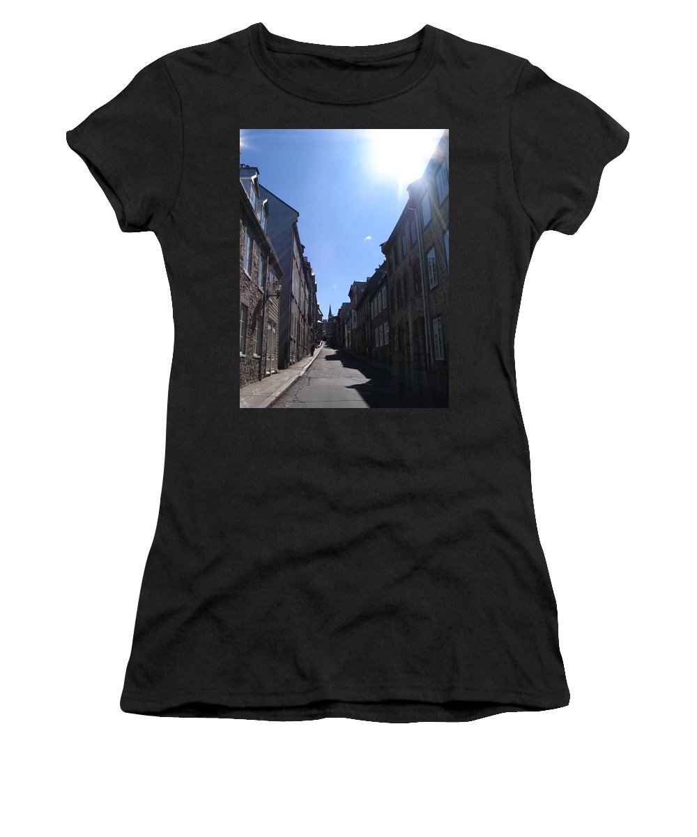 Women's T-Shirt (Athletic Fit) featuring the photograph Quebeccity 2 by Line Gagne