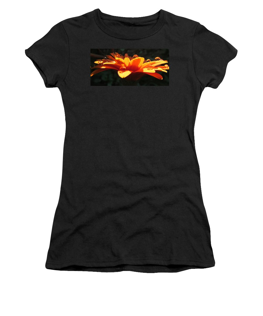 Flower Women's T-Shirt featuring the photograph Quenched by Ginger Adams