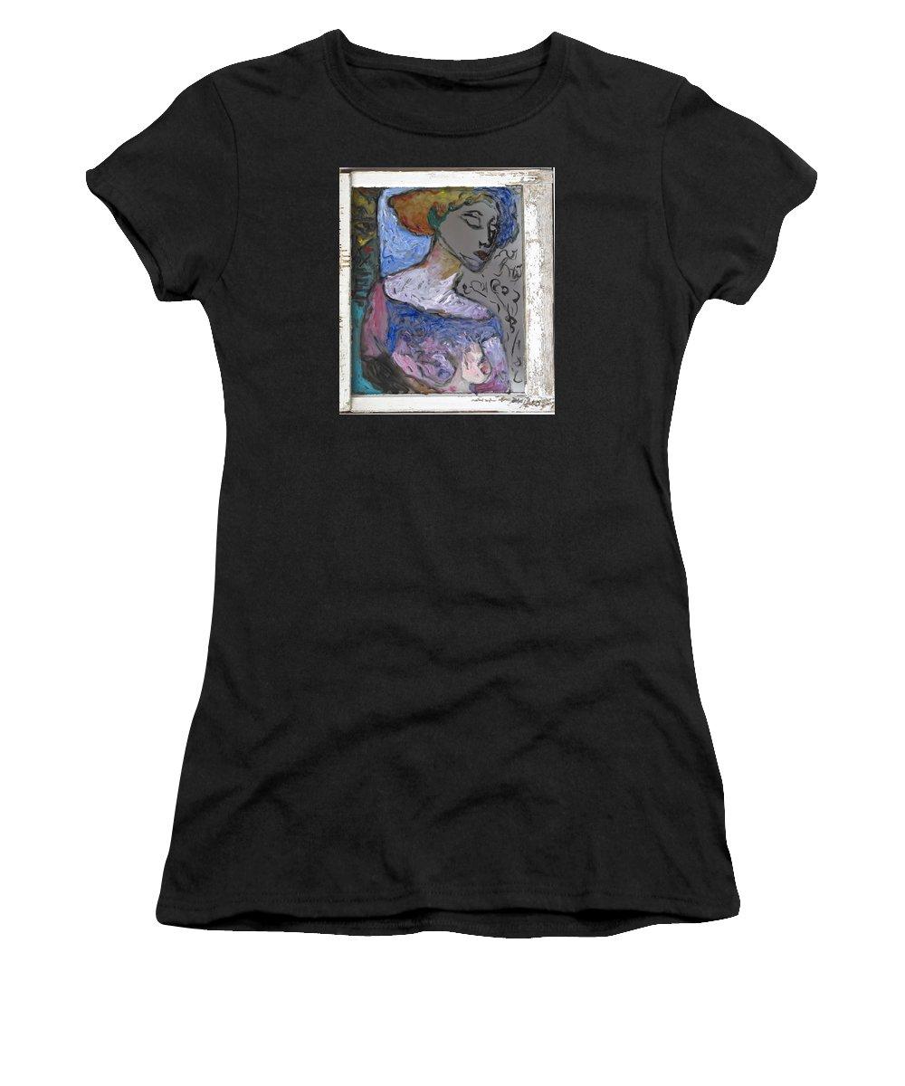 Glass Women's T-Shirt featuring the painting Rachel by Mykul Anjelo