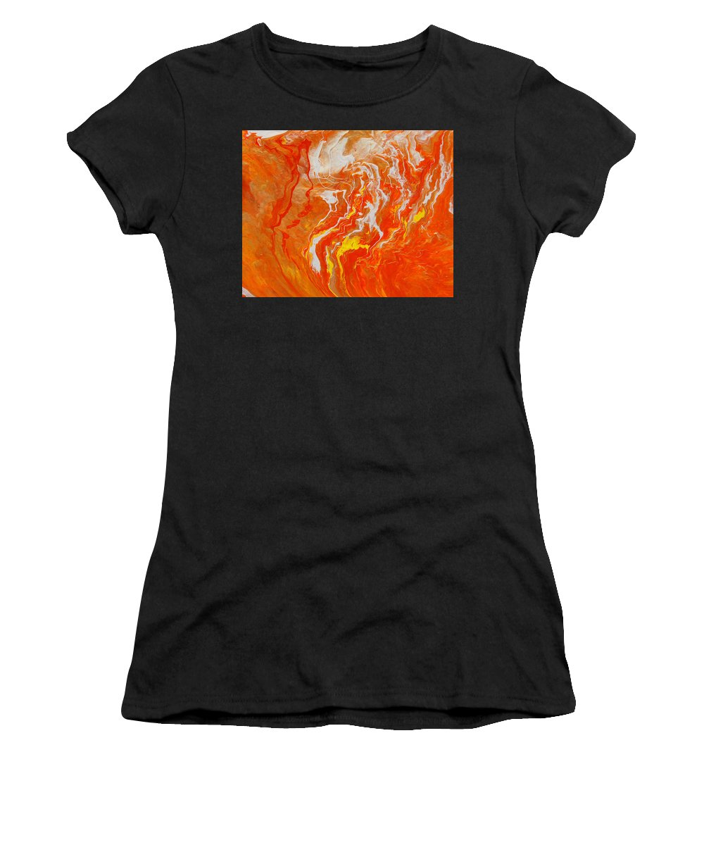 Fusionart Women's T-Shirt (Athletic Fit) featuring the painting Radiance by Ralph White