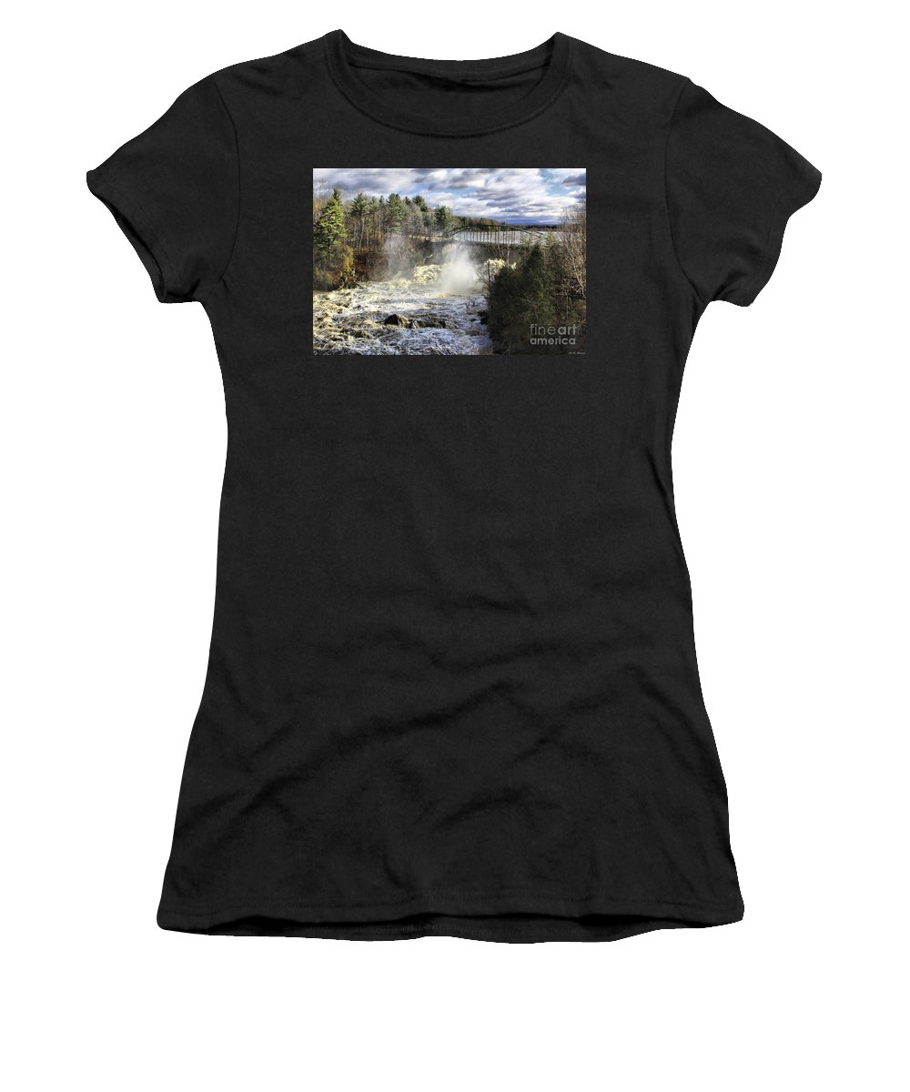 Falls Women's T-Shirt (Athletic Fit) featuring the photograph Raging Water by Deborah Benoit
