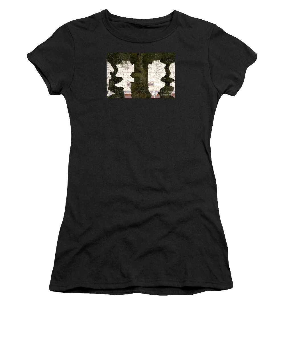 Water Women's T-Shirt featuring the photograph Rain Dance by Linda Shafer