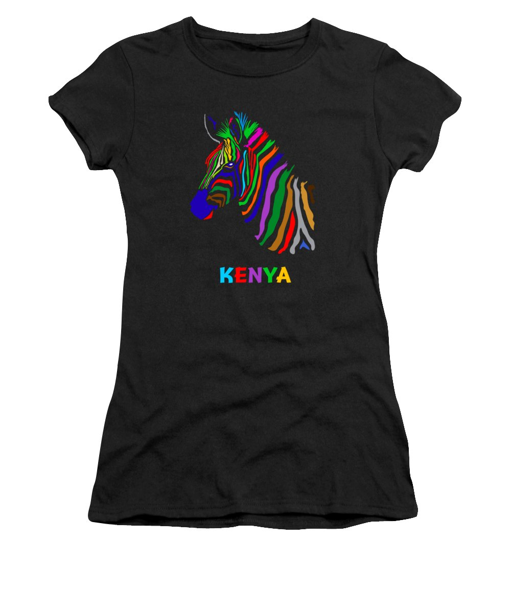 Wildlife Women's T-Shirt featuring the digital art Rainbow by Anthony Mwangi