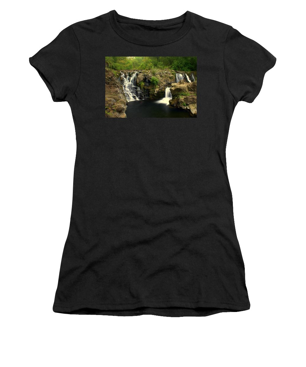 Women's T-Shirt featuring the photograph Rainbow Falls 2 by Marty Koch