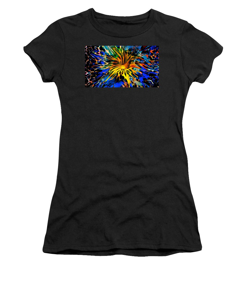 Starved Rock Hot Glass Women's T-Shirt featuring the photograph Rainbow Thunder Well by Tim G Ross