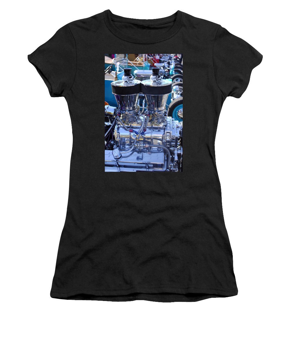 Transportation Women's T-Shirt (Athletic Fit) featuring the photograph Rat Rod Skulls by Jill Reger