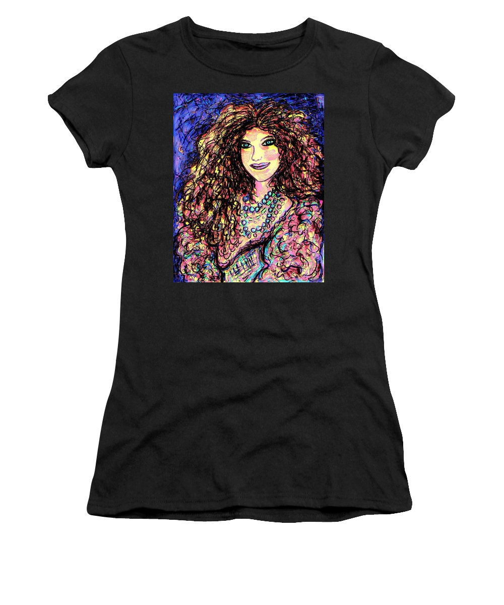 Woman Women's T-Shirt (Athletic Fit) featuring the painting Ravishing Beauty by Natalie Holland
