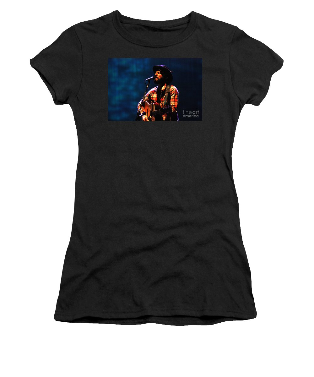 Ray Lamontagne Women's T-Shirt (Athletic Fit) featuring the photograph Ray Lamontagne-9053 by Gary Gingrich Galleries