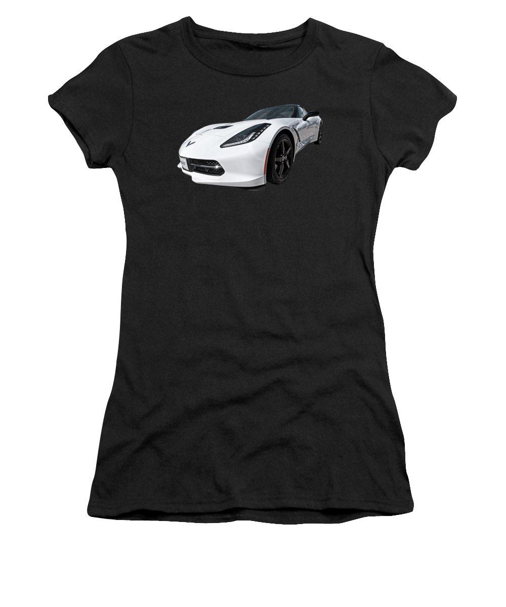 Corvette Stingray Women's T-Shirt featuring the photograph Ray Of Light - Corvette Stingray by Gill Billington