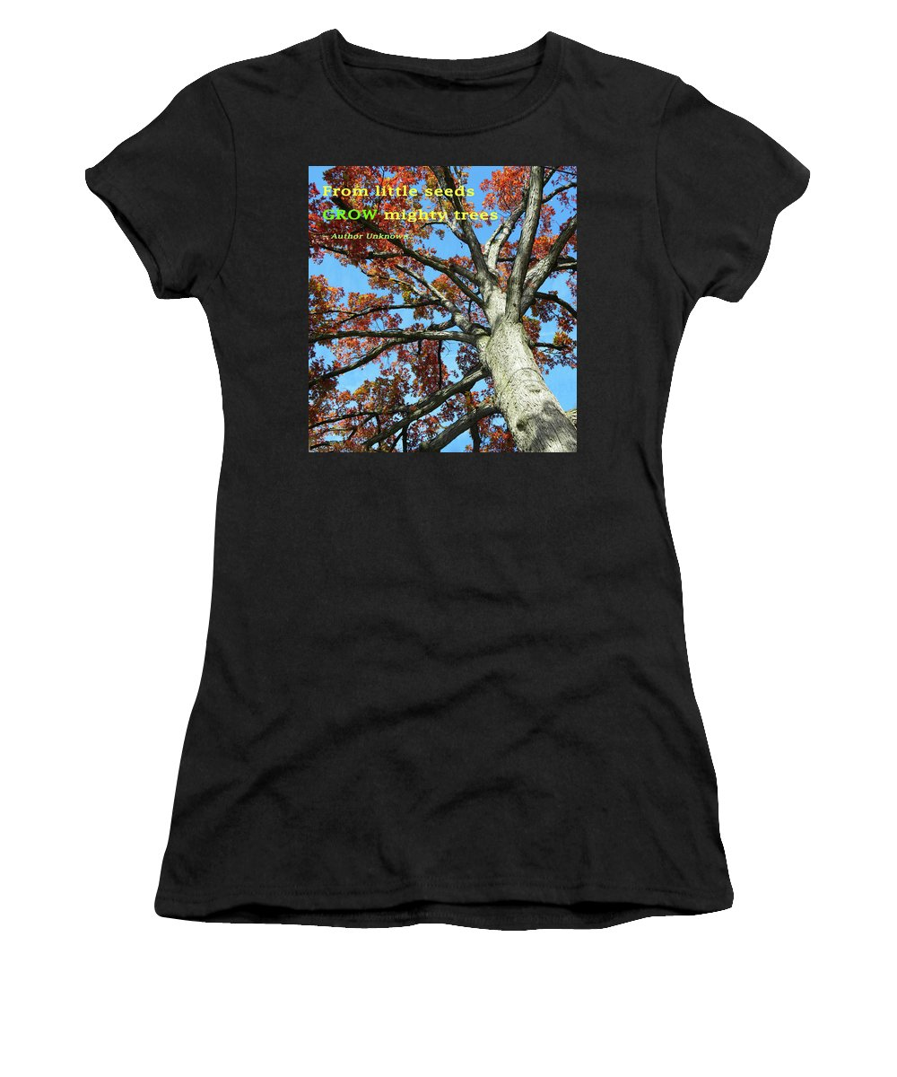 Reaching For The Sky 2 Women's T-Shirt featuring the photograph Reaching For The Sky 2 by Emmy Vickers