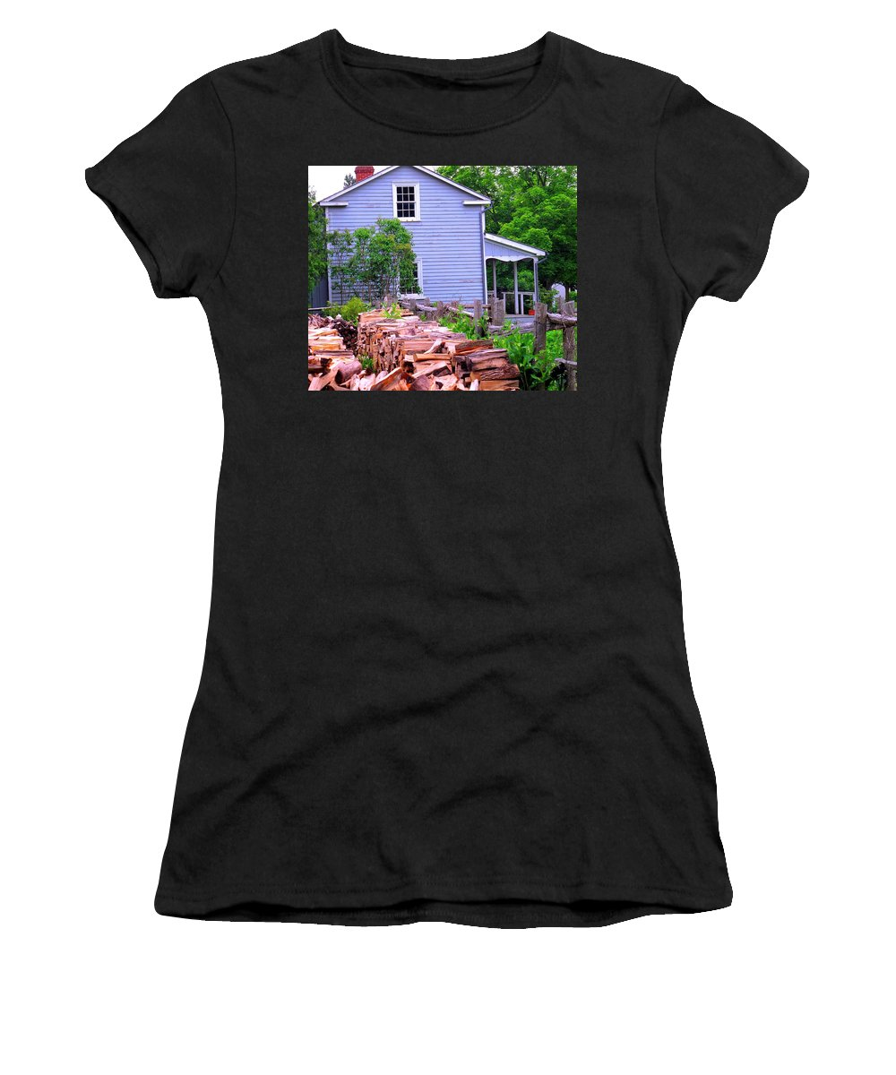 Pioneer Women's T-Shirt (Athletic Fit) featuring the photograph Ready For Winter by Ian MacDonald