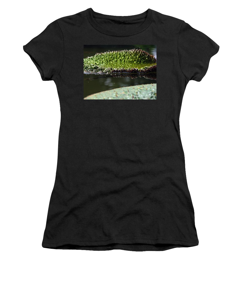 Lillypad Women's T-Shirt featuring the photograph Ready To Spread by Amanda Barcon