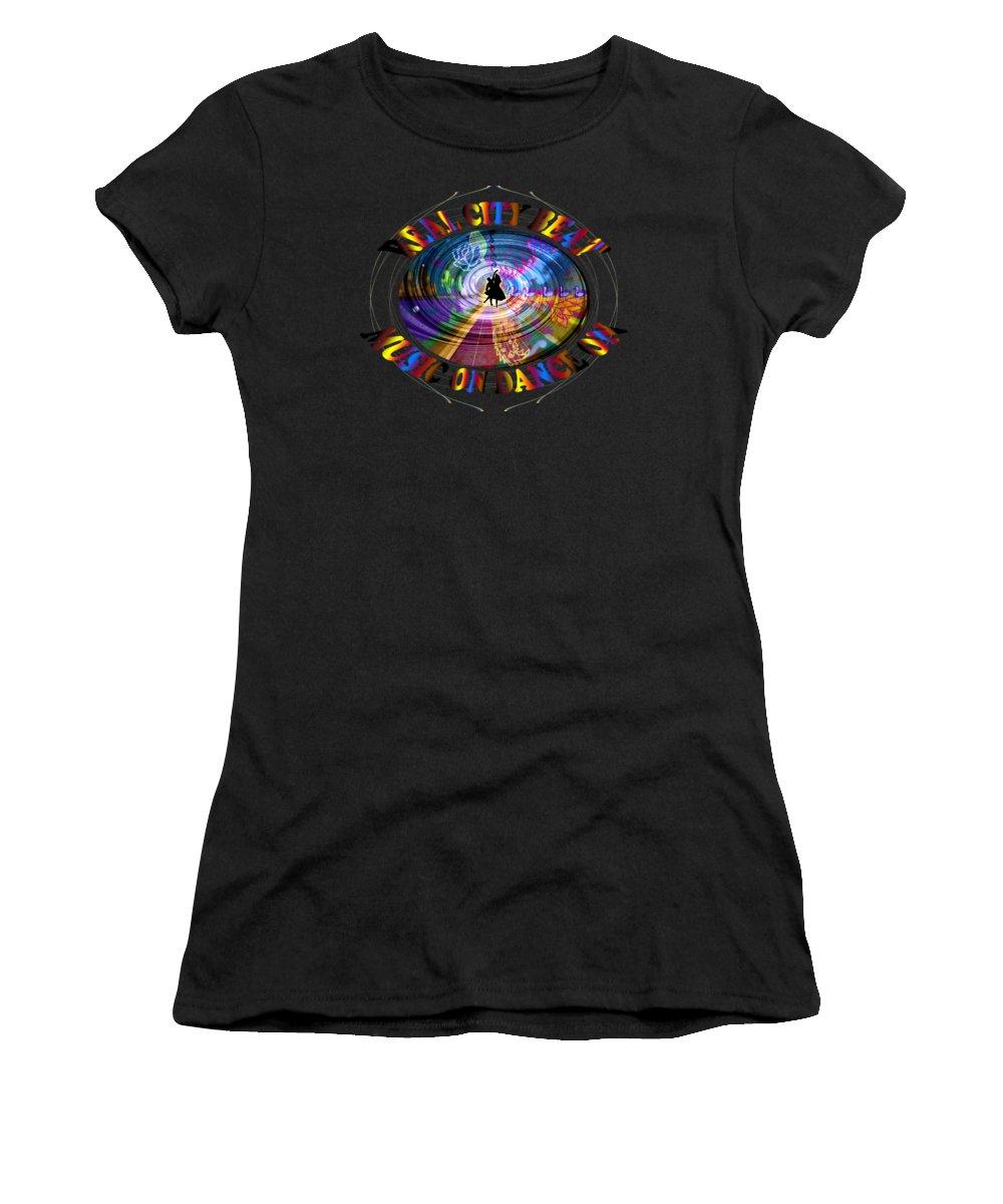 Guest Room Women's T-Shirt (Athletic Fit) featuring the digital art Real City Beat by Artist Nandika Dutt