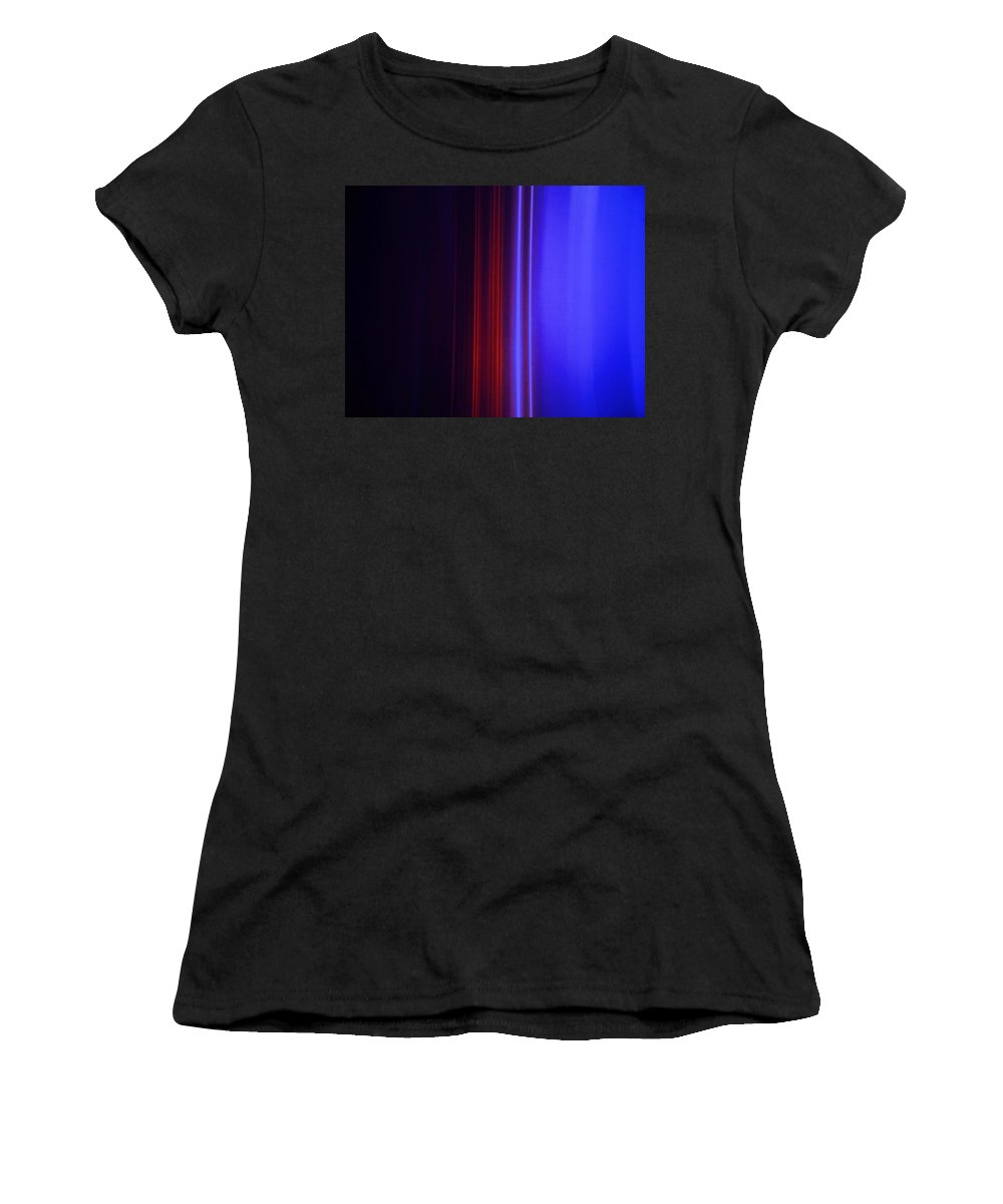 Abstract Blue Women's T-Shirt (Athletic Fit) featuring the painting Realm Of Color by Eric Schiabor