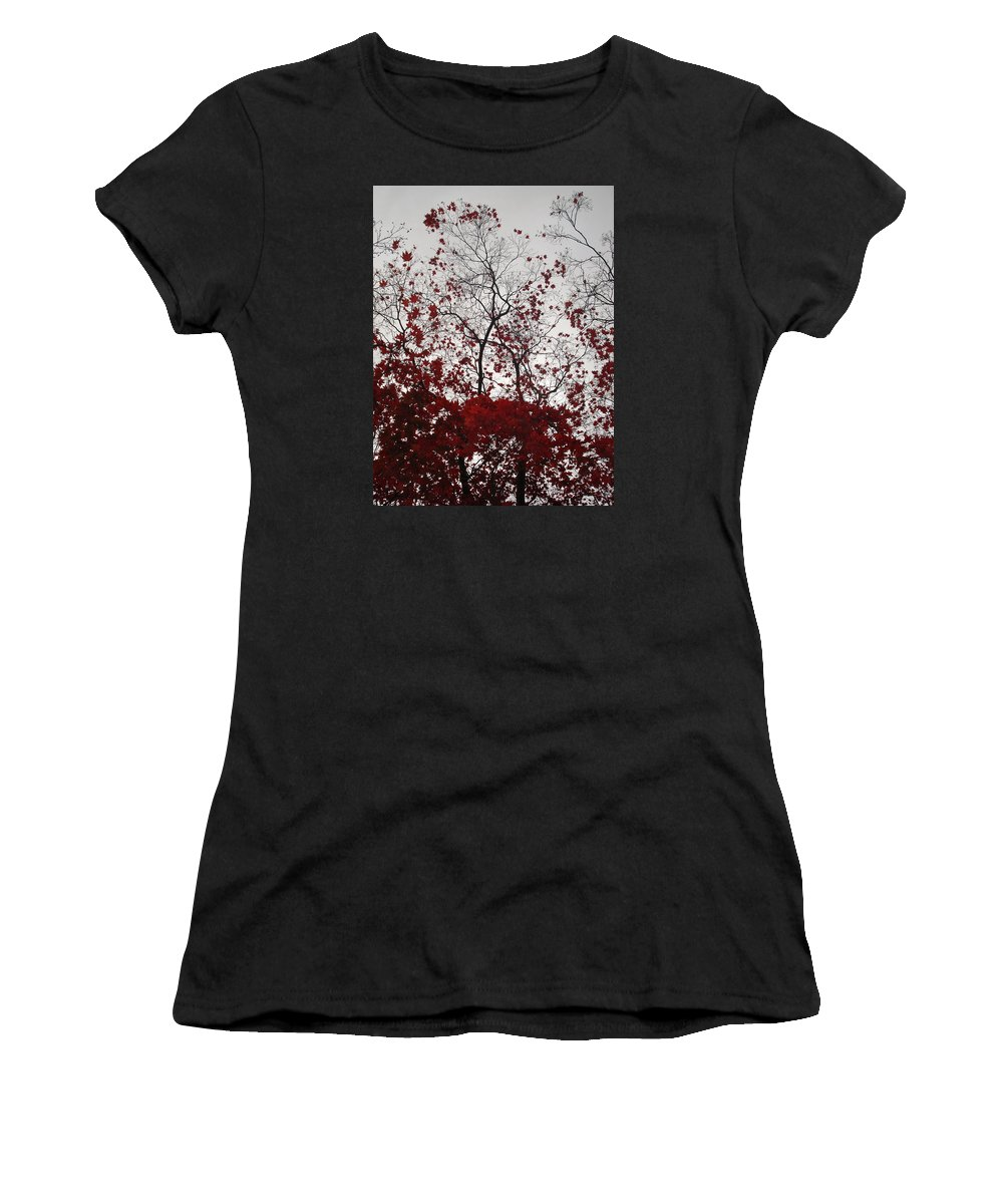 Nature Women's T-Shirt (Athletic Fit) featuring the photograph Red Glitter by Nelson F Martinez