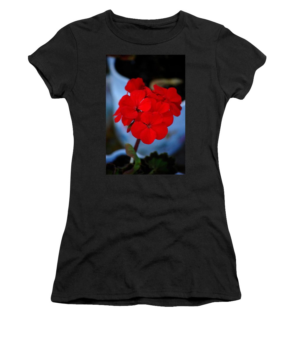 Women's T-Shirt (Athletic Fit) featuring the photograph Red Menace by David Lane