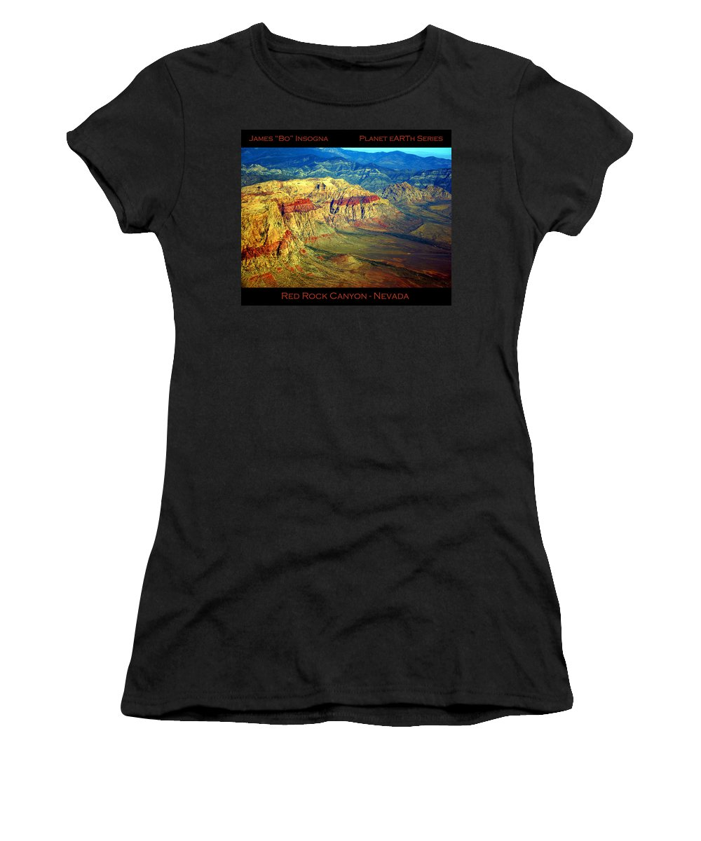 Red Rock Canyon Women's T-Shirt (Athletic Fit) featuring the photograph Red Rock Canyon Poster Print by James BO Insogna