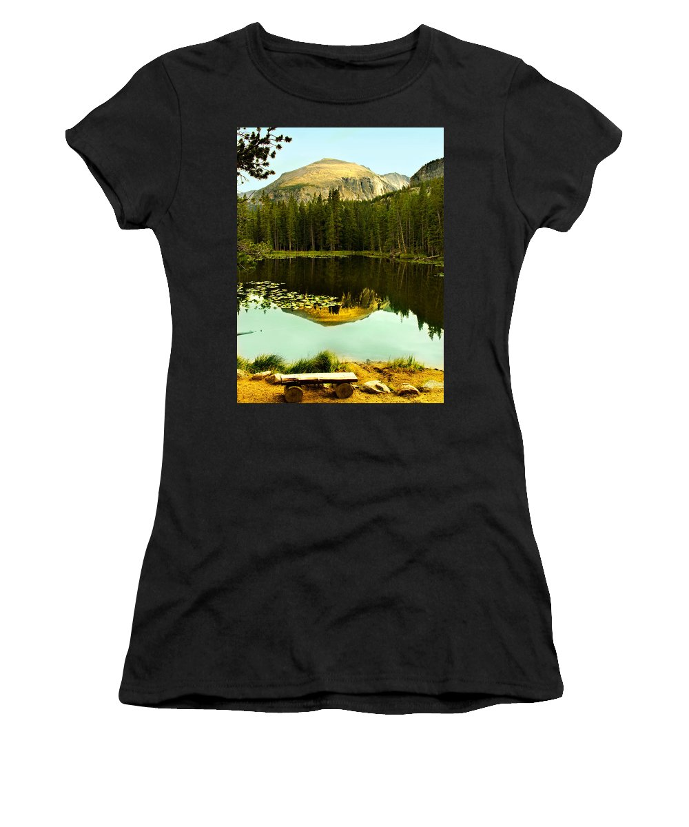 Reflection Women's T-Shirt (Athletic Fit) featuring the photograph Reflection by Marilyn Hunt