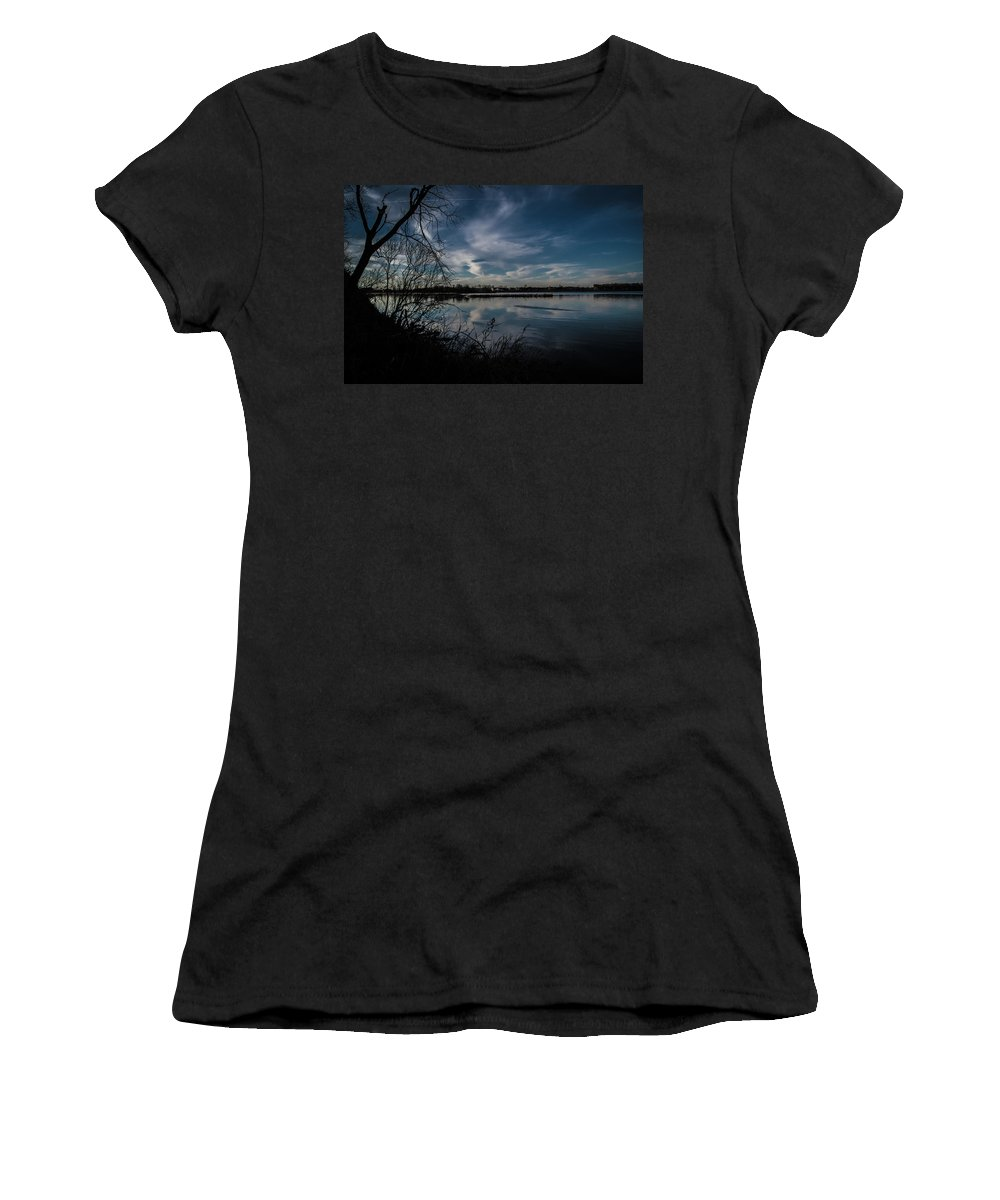 Lake Women's T-Shirt (Athletic Fit) featuring the photograph Reflections by Benjamin Dunlap
