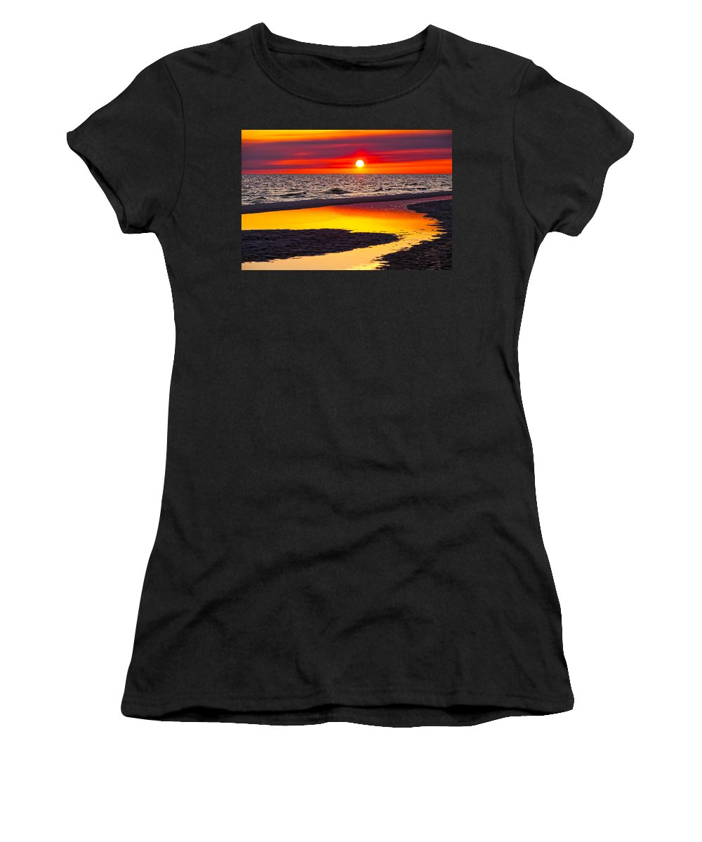 Reflection Women's T-Shirt (Athletic Fit) featuring the photograph Reflections by Janet Fikar