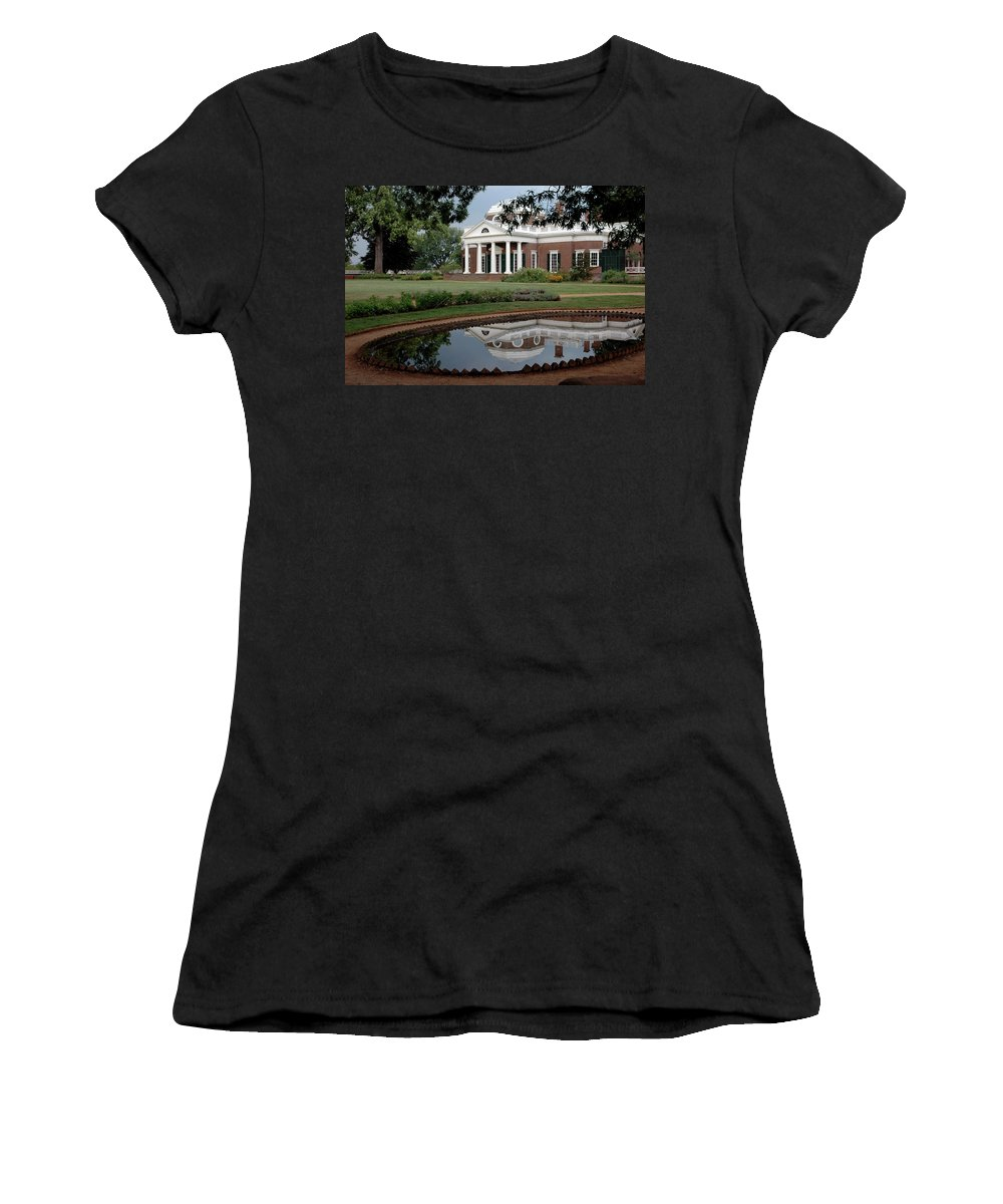 Usa Women's T-Shirt (Athletic Fit) featuring the photograph Reflections Of Monticello by LeeAnn McLaneGoetz McLaneGoetzStudioLLCcom