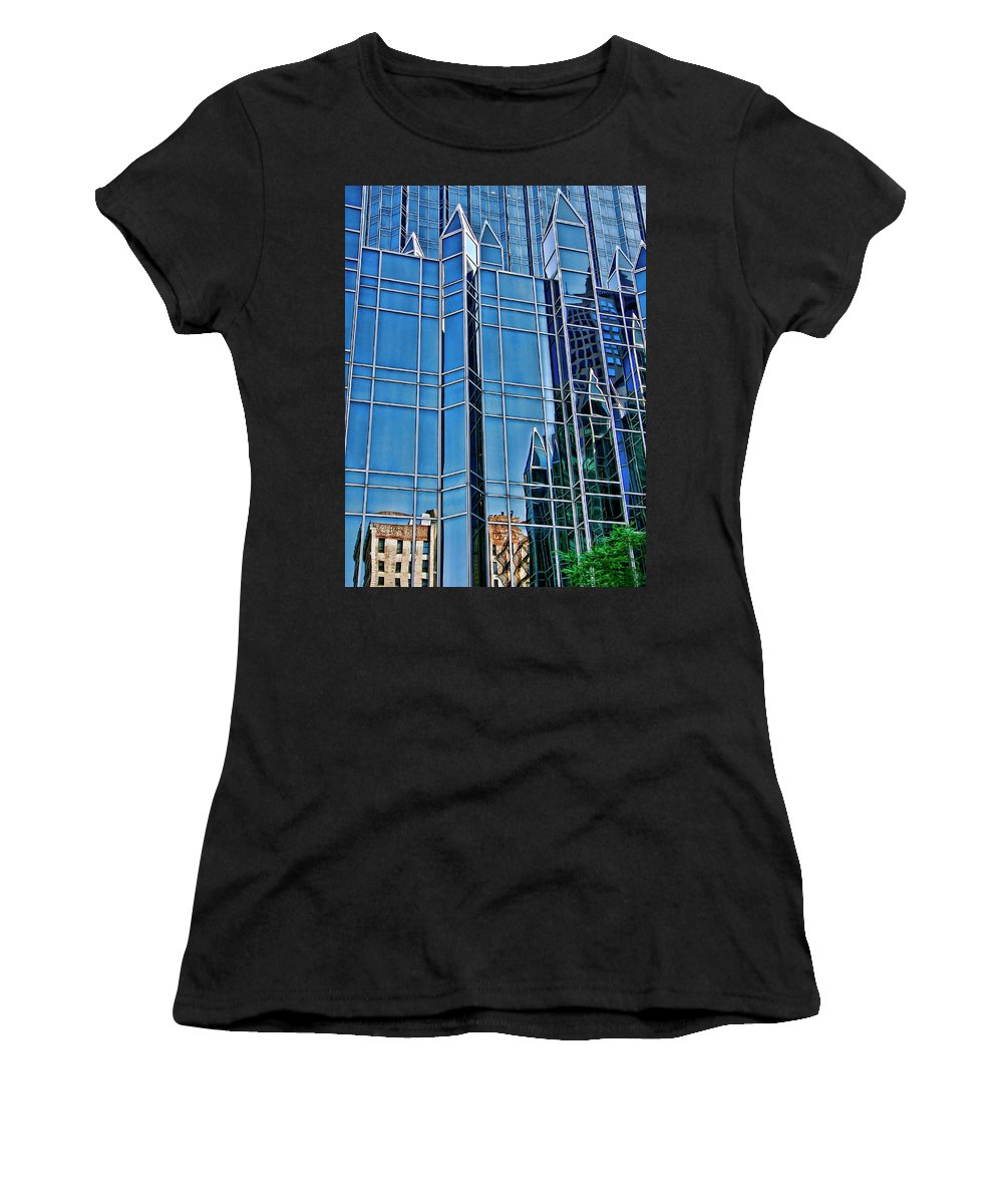 Pittsburgh Women's T-Shirt (Athletic Fit) featuring the photograph Reflections by Rhonda McDougall
