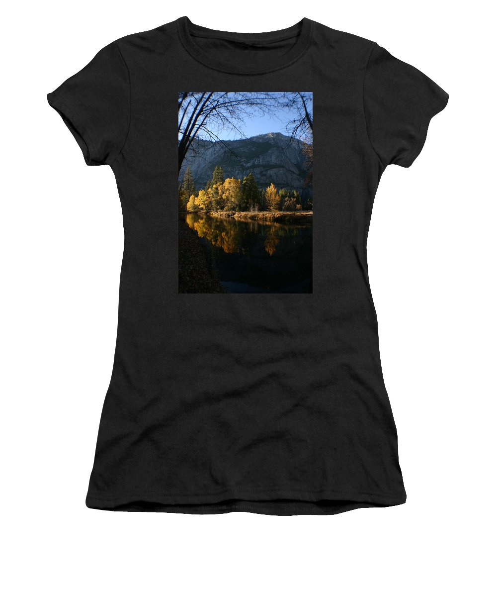 Yosemite Women's T-Shirt (Athletic Fit) featuring the photograph Reflections by Travis Day