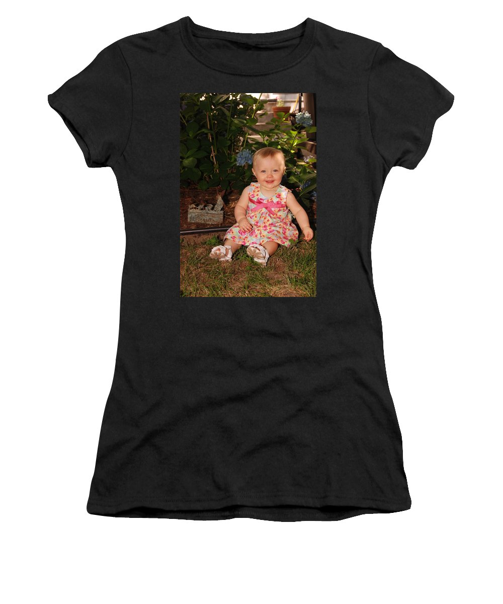 Portrait Women's T-Shirt featuring the photograph Regan Graves by John Graziani