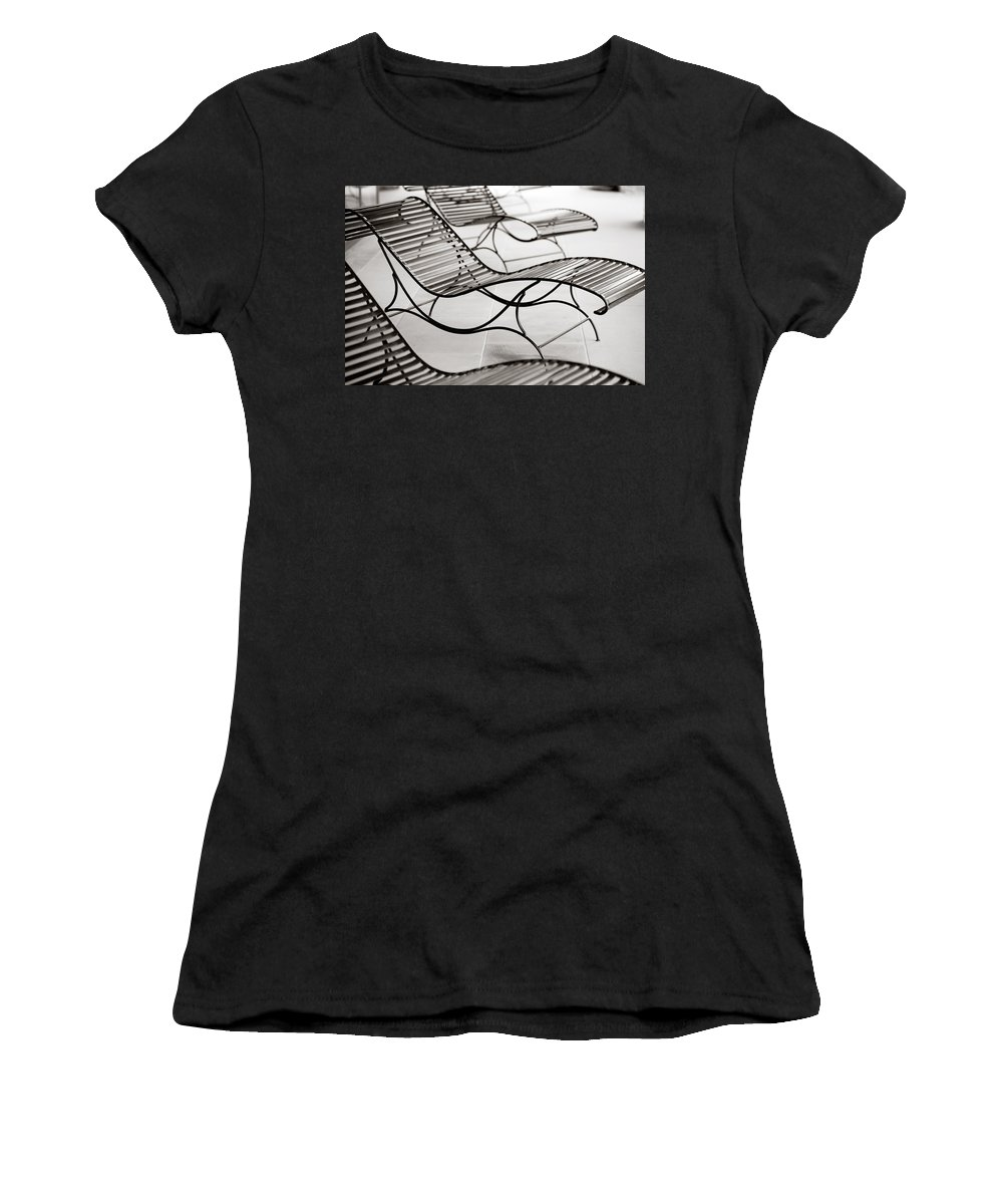 Chair Women's T-Shirt (Athletic Fit) featuring the photograph Relaxation by Marilyn Hunt