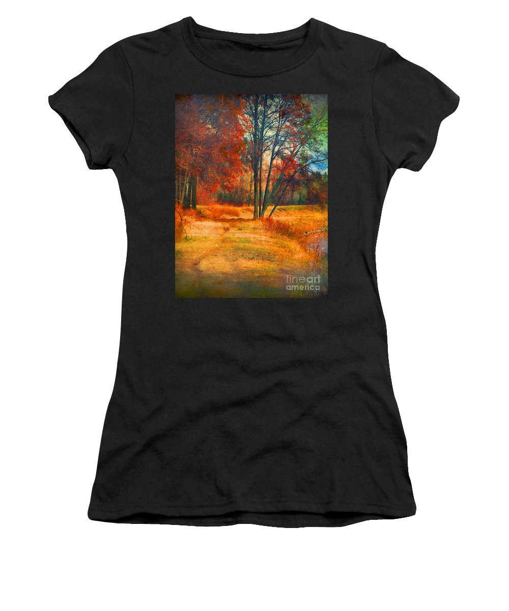 Trees Women's T-Shirt (Athletic Fit) featuring the photograph Remembering The Places I Have Been by Tara Turner